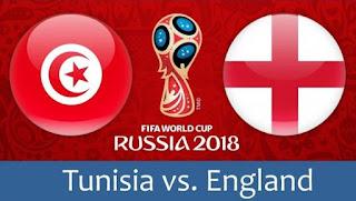 Susunan Pemain Tunisia vs Inggris - Piala Dunia 2018