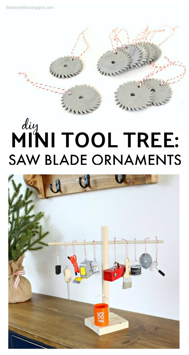 diy mini tool tree saw blade ornaments