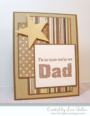 I'm So Glad You're My Dad card-designed by Lori Tecler/Inking Aloud-stamps from Verve Stamps