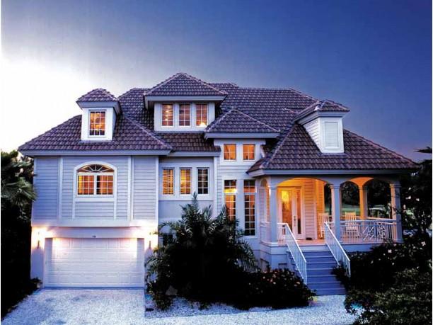 Mediterranean Modern Style Home Plans : DHSW17044