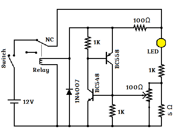 Resettable Fuse using Transistor | Circuits Lab