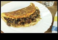 tortilla souffle con champiñones