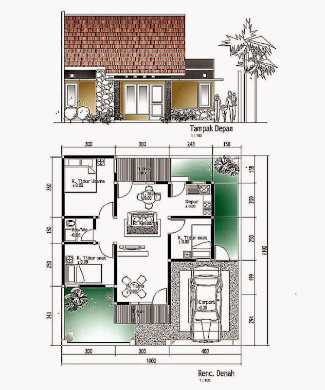 3 Contoh Denah Rumah Minimalis Modern Terbaru: Model Dan Denah Rumah Minimalis