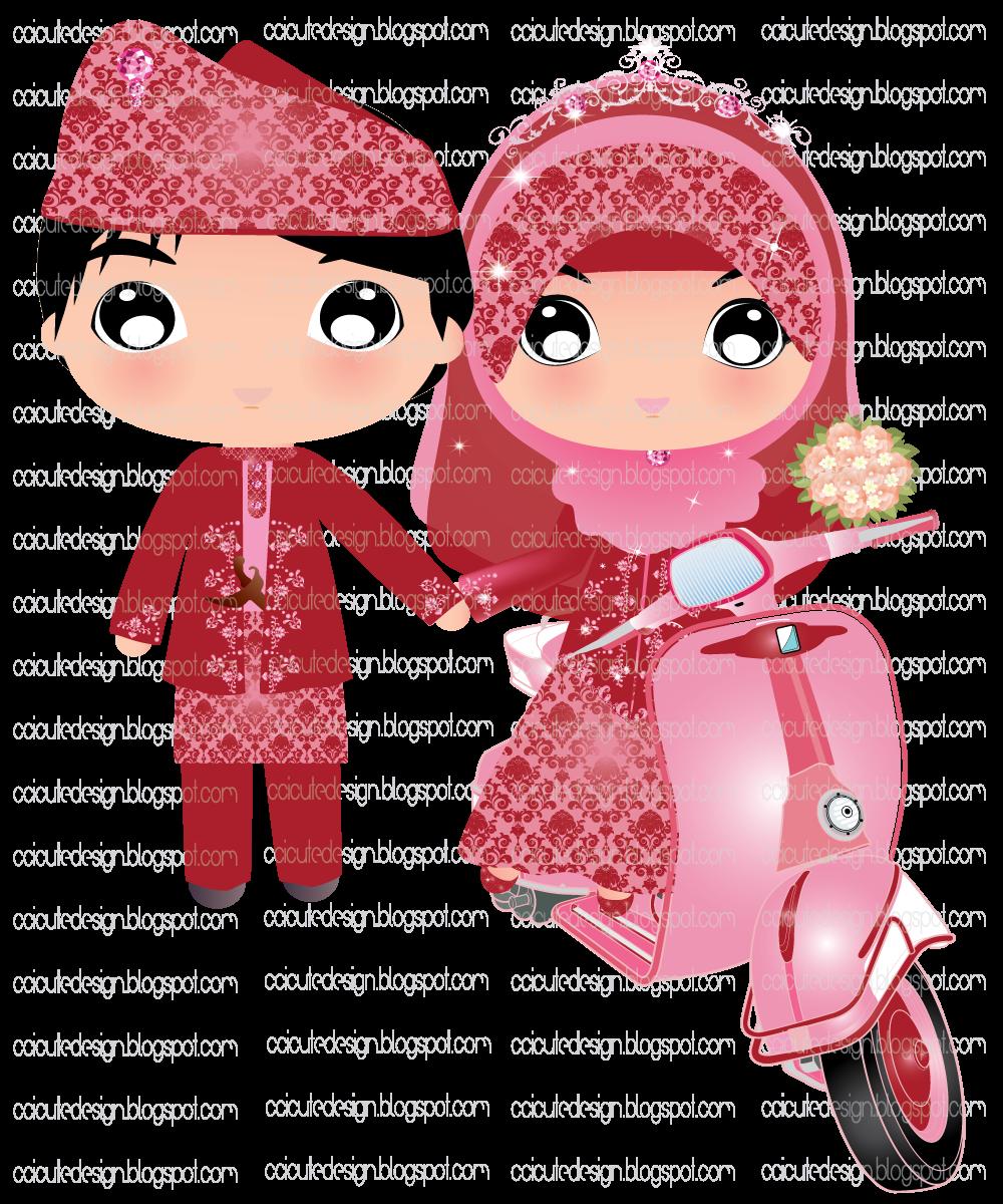 Gambar Pasangan Pengantin Kartun Download Gambar Wallpaper