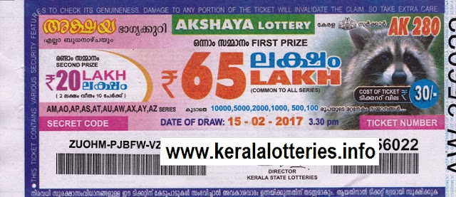 Kerala lottery result of Akshaya_AK-26 on 21 March 2012