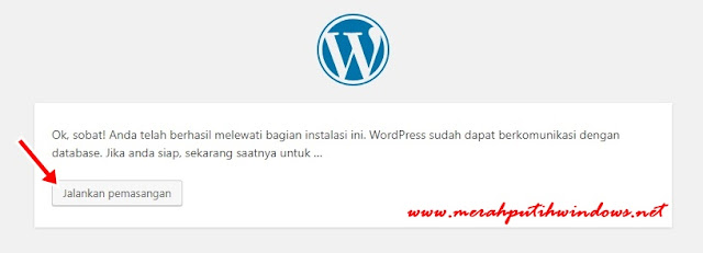 wordpress database finish