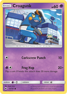 Croagunk Burning Shadows Pokemon Card