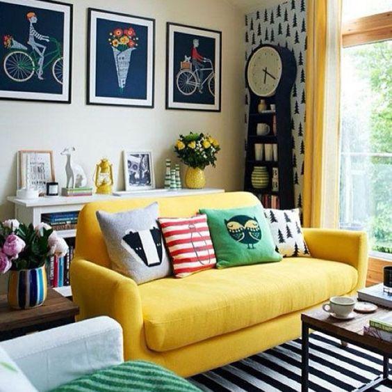 Decoração: Amarelo para alegrar sua casa!