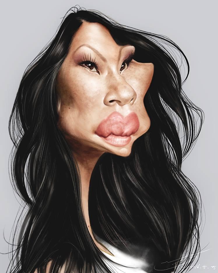 Lucy Liu por Rivorio Mok