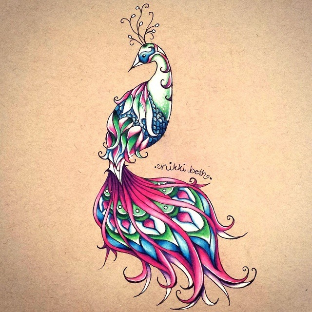 05-Phoenix-Nikki-Beth-Animal-Portrait-Drawings-in-different-Styles-www-designstack-co