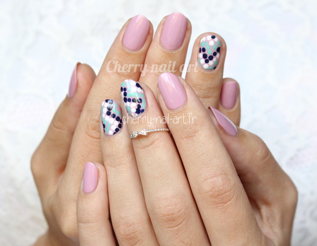 Cherry nail art blog mode beaut 2 nail art rapides et faciles au dotting - Nail art facile et rapide ...
