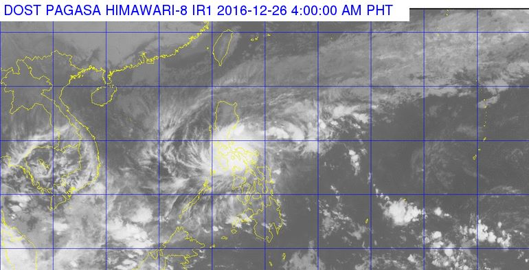 'Bagyong Nina' PAGASA weather update December 26, 2016