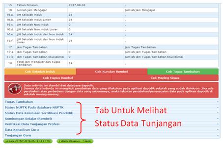 Cek SKTP Pada Info GTK 2019/2020