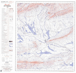 AYT-WAZAG Morocco 50000 (50k) Topographic map free download