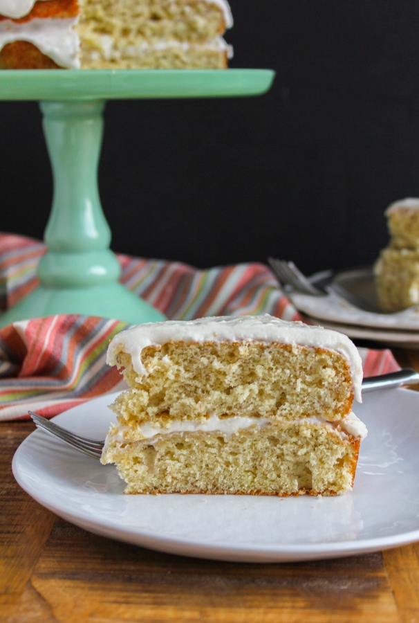 This Banana Layer Cake with Banana Buttercream Frosting one of my favorite family recipes, handed down to me from my grandmother. Although it's a simple cake, it's definitely a showstopper for the holidays or any family gatherings!