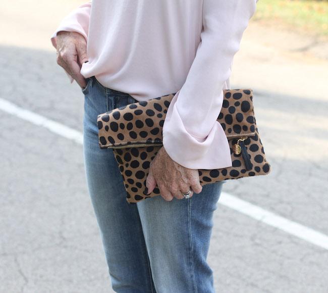 pleione top, clare v leopard clutch