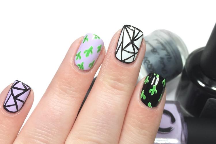 Cacti Nail Art