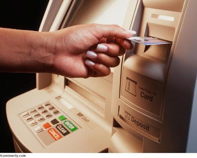 Contoh Teks Prosedur Mengambil Uang melalui ATM
