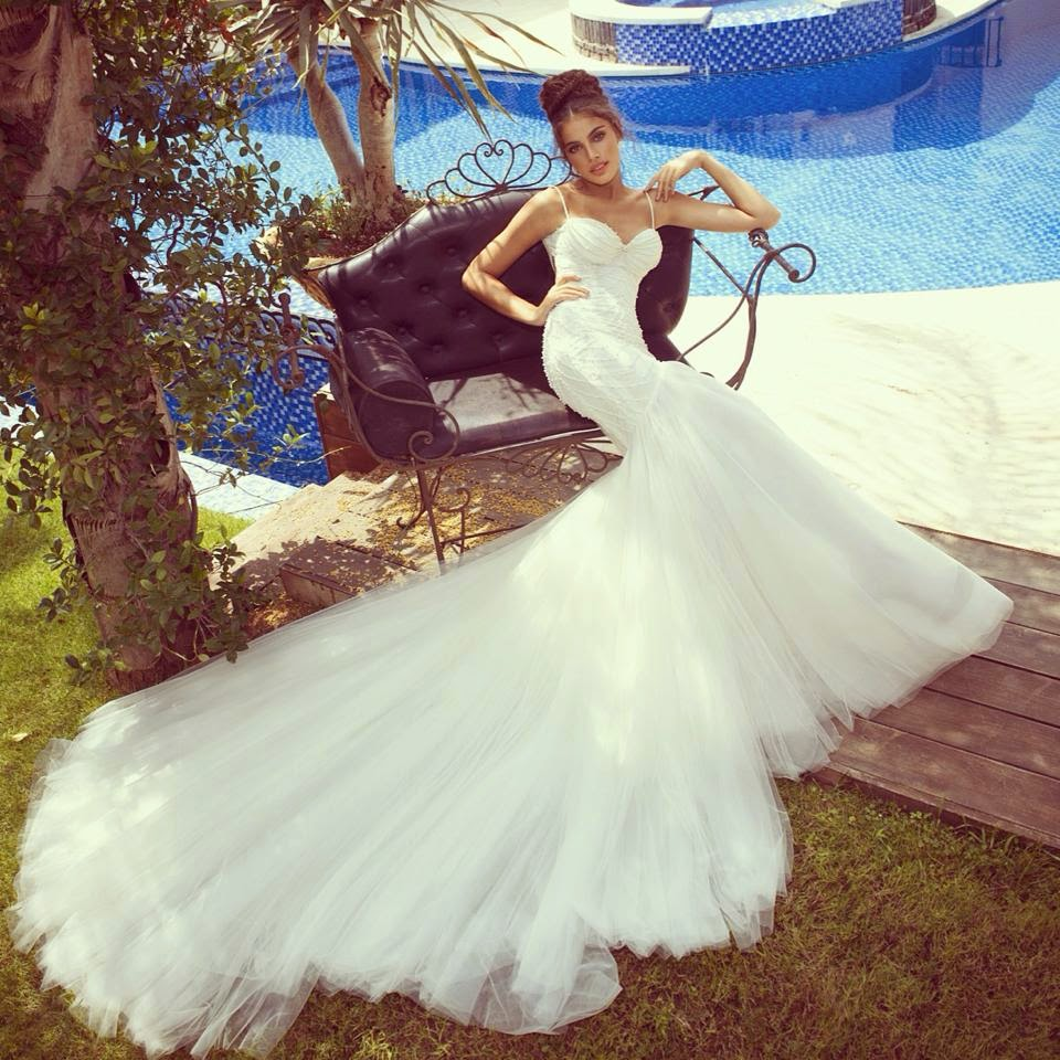 Latest Wedding Gowns 2014: New Bridal Wear Gowns For Western Brides By Galia Lahav