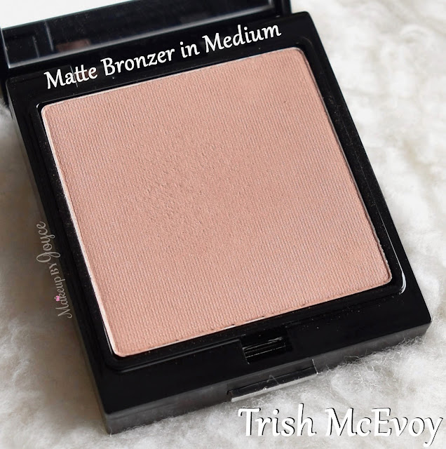 Trish McEvoy Matte Powder Bronzer Refill in Medium Review Swatches