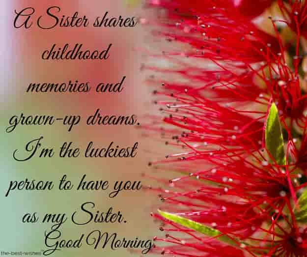 good morning dear sister quotes
