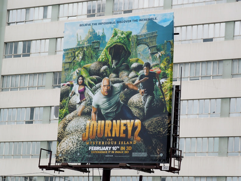 Journey 2 The Mysterious Island billboard