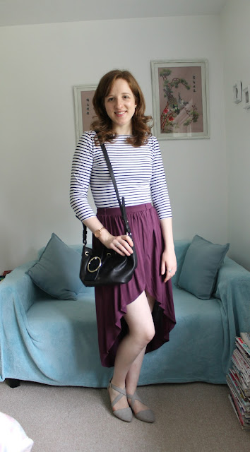 OOTD: Primark Stripes and Maxi Skirt, OOTD, Primark, Maxi Skirt. Stripes, Olivia Burton, Olivia Burton Watch, Rose gold, Jewellery