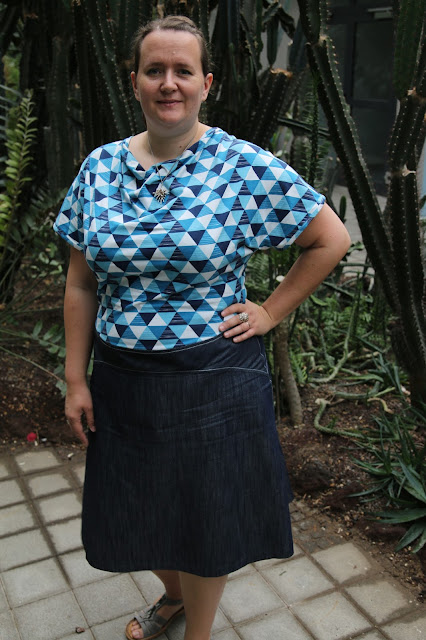 My second Cashmerette Washington Dress + Lekala 4119 Top Frankendress | Twice the Fun | doppeltsolustig.blogspot.de