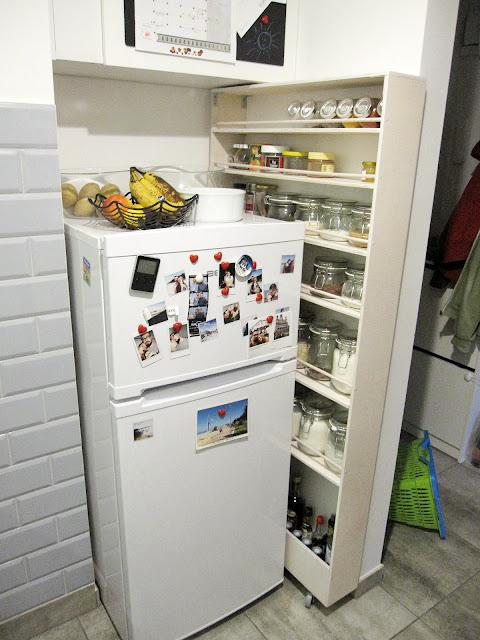 szafka za lodówkę | szafka na przyprawy