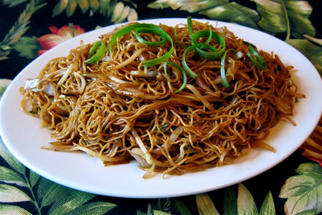 Traditional Chinese Recipes Chi You Chao Mian Soy Sauce Chow Mein