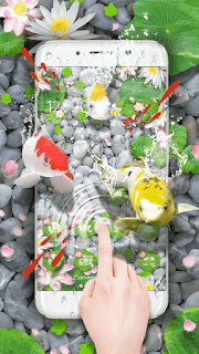 Lively Koi Fish 3D Theme - screenshot 4