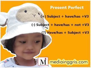 Bentuk kalimat present perfect tense