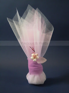 Handmade Greek wedding favors with almond blossom G111