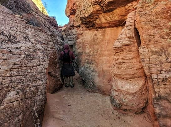 Side Canyon off Zebra Slot Canyon Escalante Utah