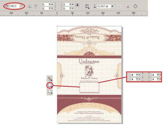 Download Template Undangan Mazaya MZ 018 Versi CorelDRAW X4