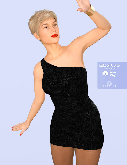 H/C Club Dress C for Genesis 3 Female
