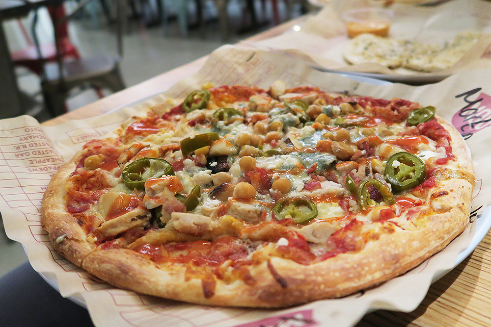 Create-your-own pizza at MOD Pizza Leeds
