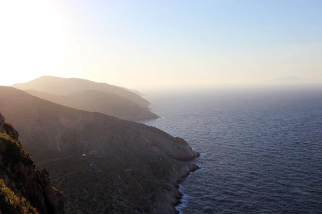 Greece, Folegandros, travel, beautiful, colourful, sea, mountain, twilight, interaction