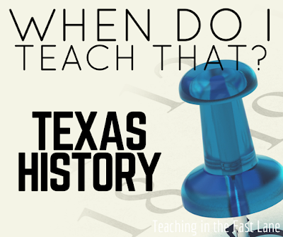 Are you wondering when to teach what in your Texas History class? This sequence of units can help!