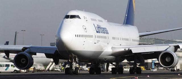 De avião de Frankfurt até Munique
