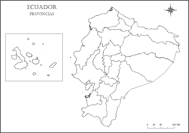 Mapa del Ecuador para colorear - Ecuador Noticias