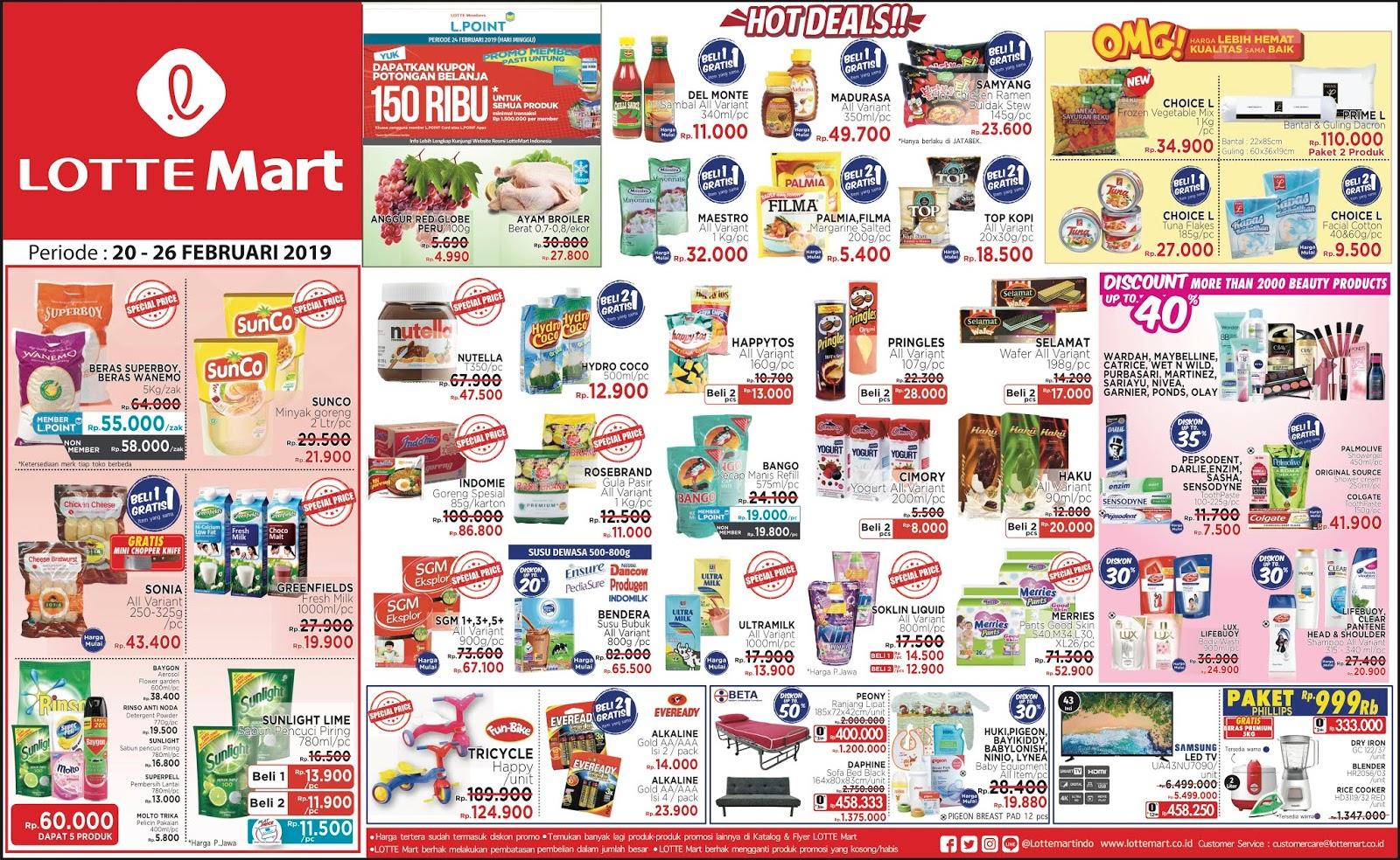 #Lottemart - #Promo #Katalog Periode 20 - 26 Februari 2019