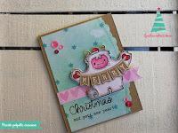 colorazione bigliettino d'auguri natalizio
