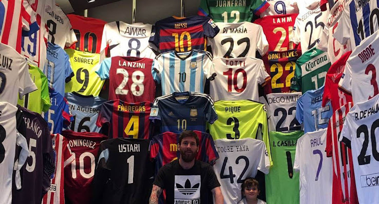 hot sale online 36889 b86ee Messi Reveals His Gigantic Kit Collection - Footy Headlines
