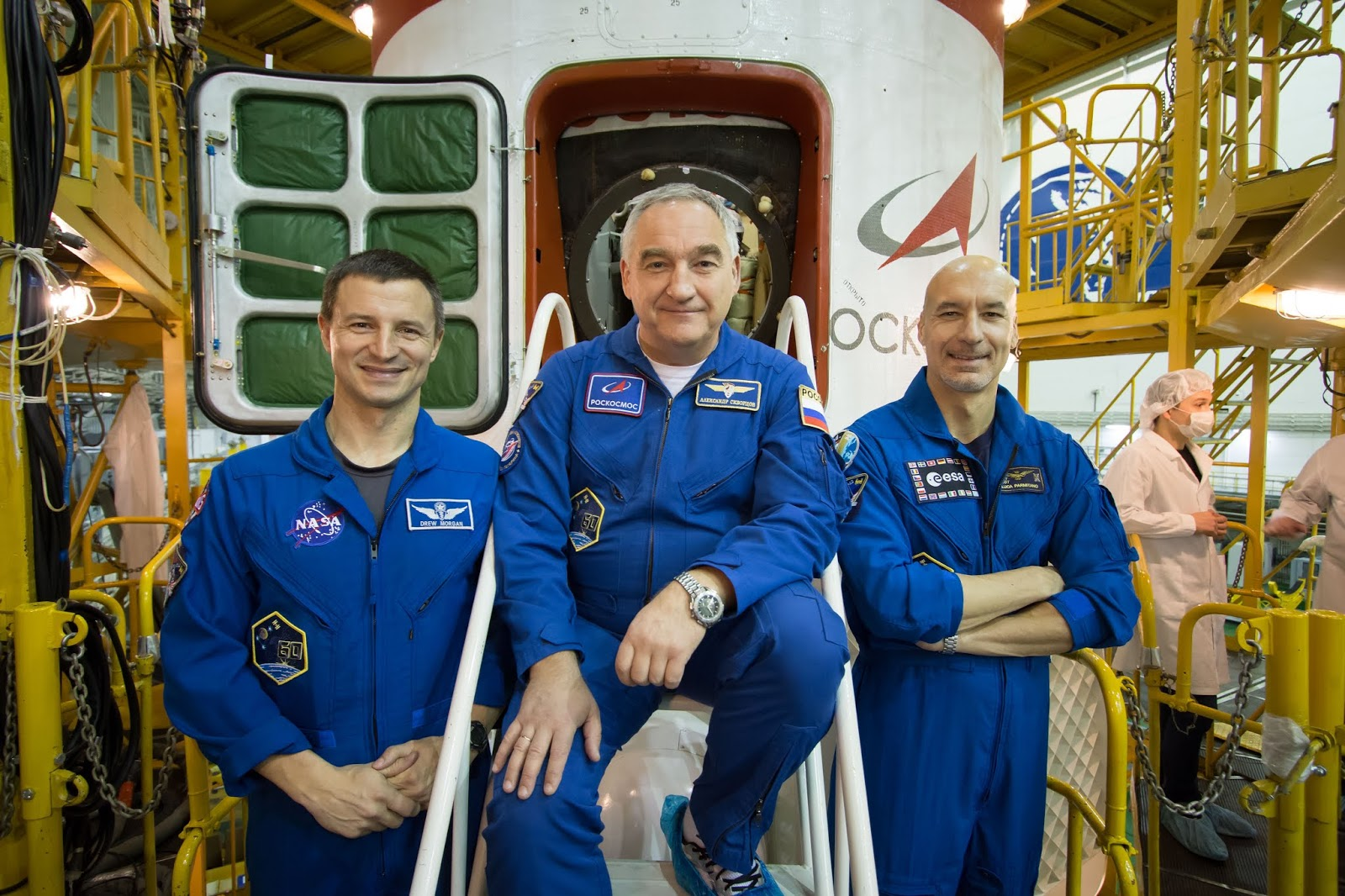 USU alumnus, Army Col. (Dr.) Andrew Morgan (left), is among the crew for the International Space Station Expedition 60/61/62.  (NASA photo)