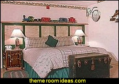 vintage style train theme bedroom decorating ideas