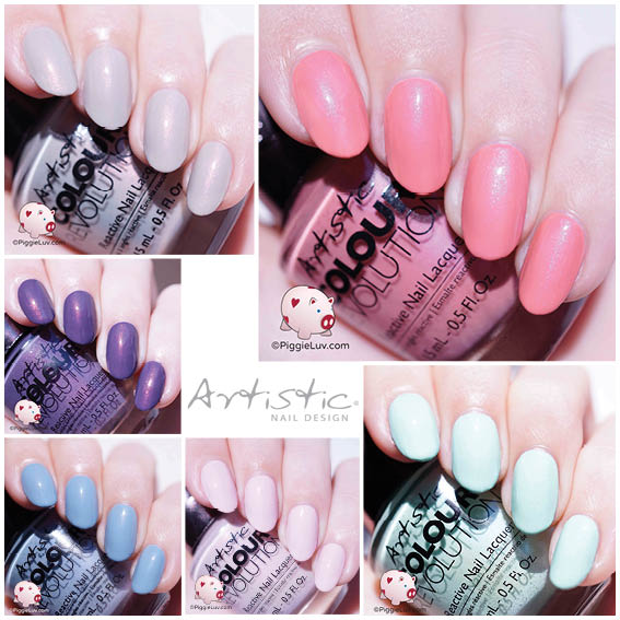 February is the month of luuuuvvvv and these soft shades play right into  that! They are the Artistic Nail Design Urban Distressed collection, and  while the ... - Artistic Nail Design Urban Distressed Collection Swatches & Review