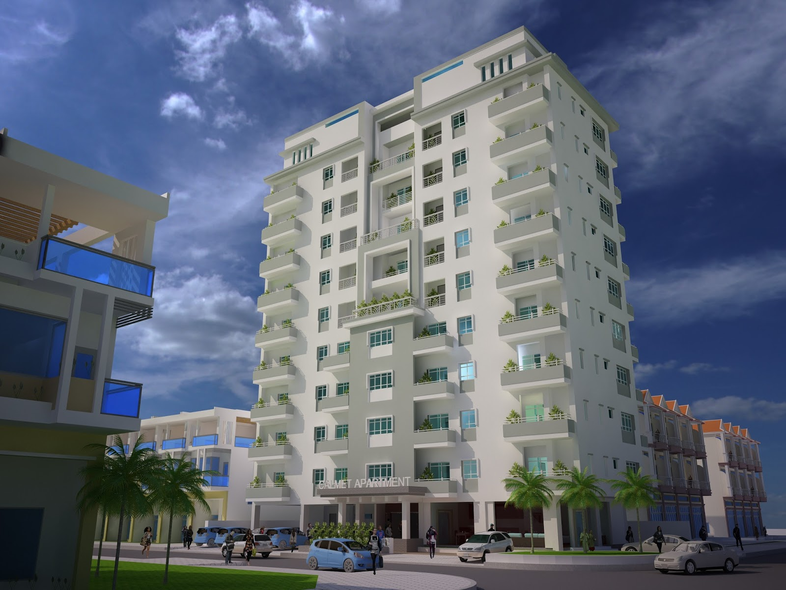 Architect Apartment Exterior design Sketchup model ref 003 | SaM ...