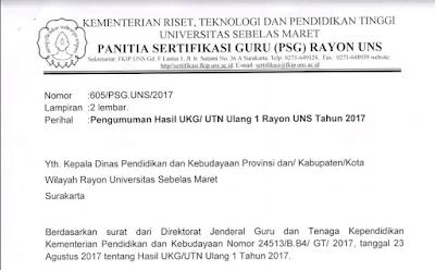 Download Pengumuman Hasil UTN Ulang 2017