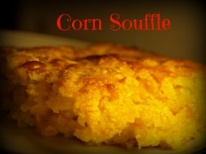Corn Souffle by Just A Little Nutty | Happy Virtual Thanksgiving | featured on www.BakingInATornado.com